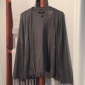 F21 // over sized grey cardigan / large